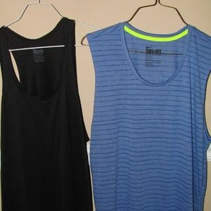 2 Nike athletic tank tops Large ladies women